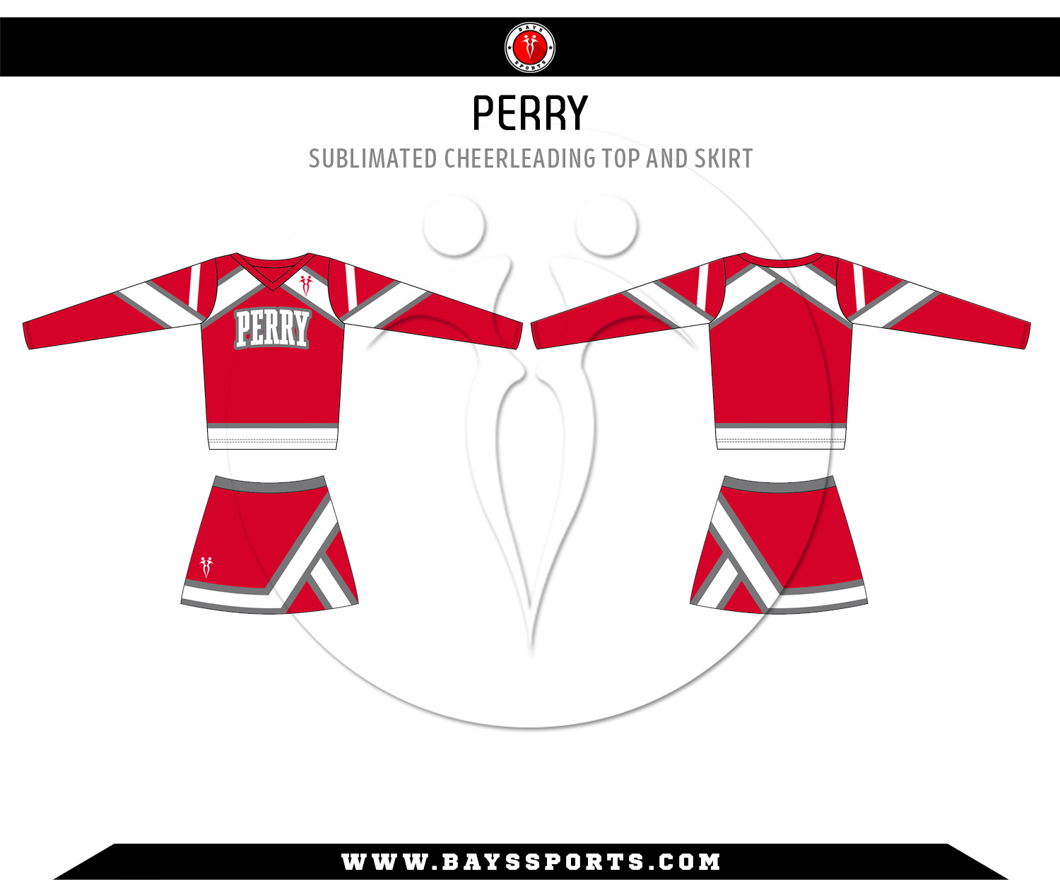 Sublimated Cheerleading Top and Skirt