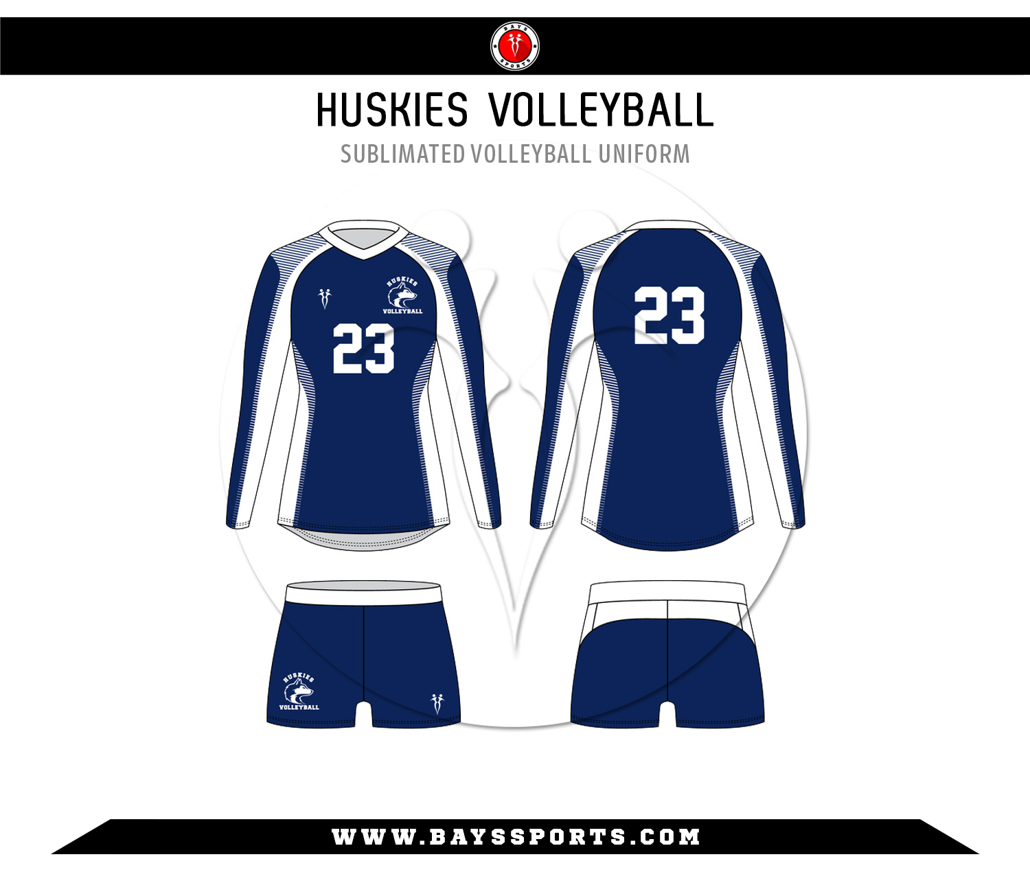 Sublimated Volleyball Uniform