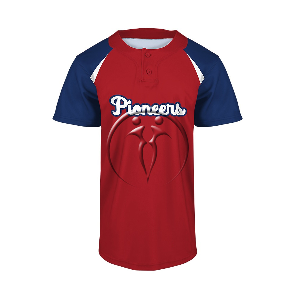 Custom 2 Button Short Sleeve Baseball Jerseys