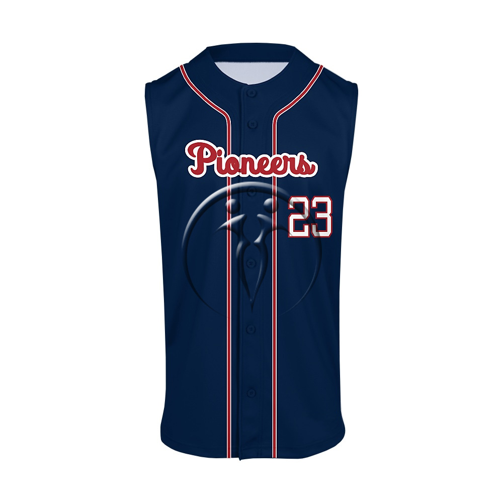 Full Button Sleeveless Baseball Jerseys