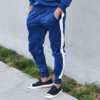 Bay Sports Blue and White Joggers
